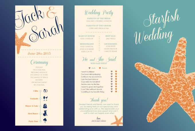 Make You Beach Themed Wedding Invites Programs Etc By Sandycorinne