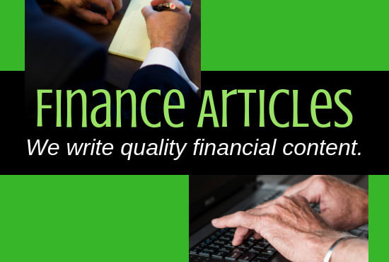 write finance articles, finance writing, financial writers