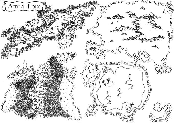 draw your fantasy world map