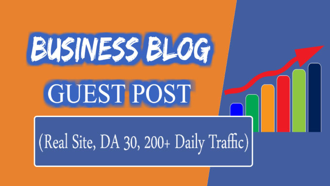 do guest post on my business blog, real site with traffic