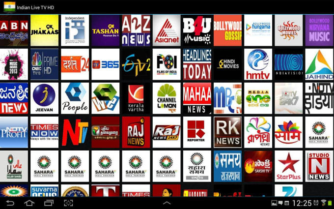 create TV channels and movies app