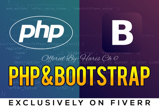 develop your php, mysql ,bootstrap websites and apis