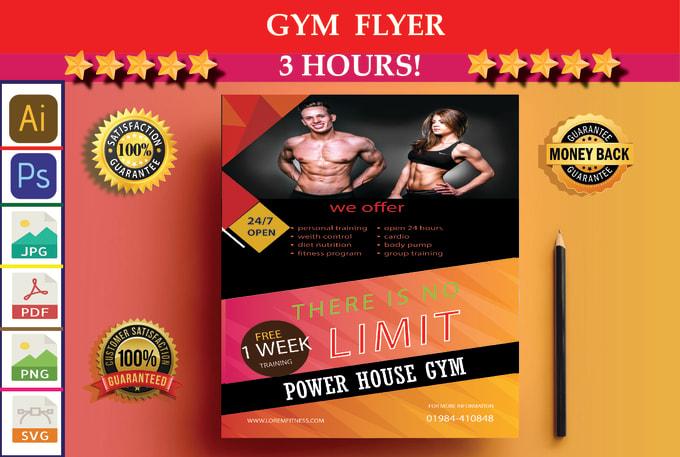 design flyer brochure business flyer corporate flyer gym flyer design menu