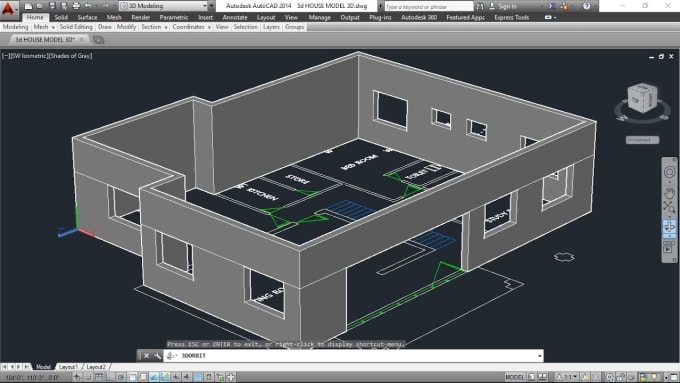 Make Autocad Plans Your House And Their View Zamil