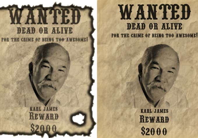 Make a wild west wanted poster using a picture of any person by ...