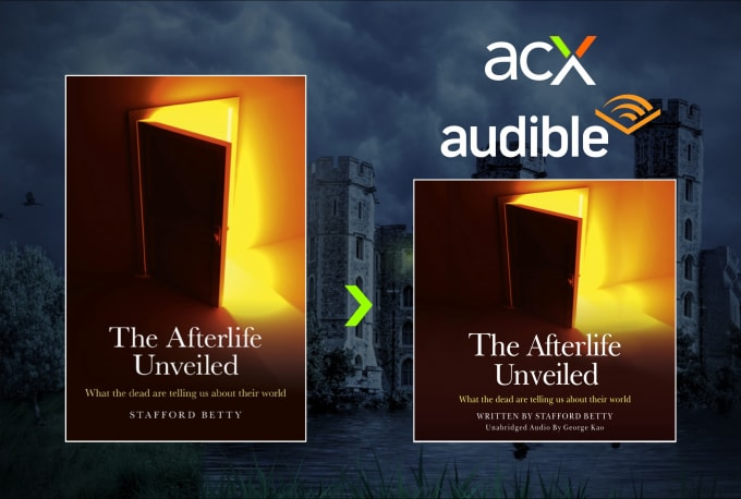 design or convert kindle cover to audiobook cover
