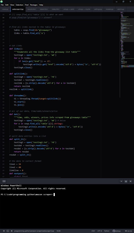 write a python program for you