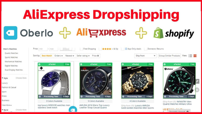 mahamuda22 : I will import shopify dropship top selling products for $5 on  www fiverr com