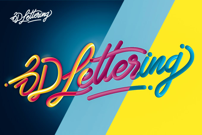 I will 3d lettering style logo handmade vector