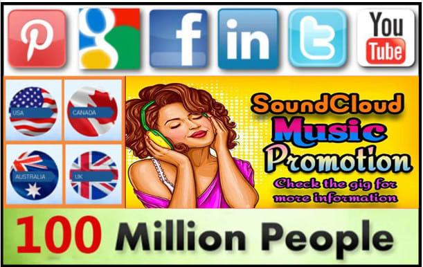 do soundcloud music promotion to 100million social media music lover