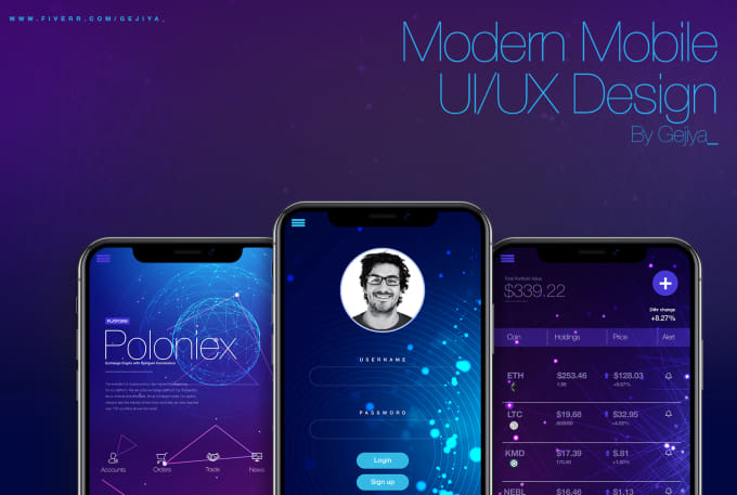 design a modern ui and ux for your website and mobile app