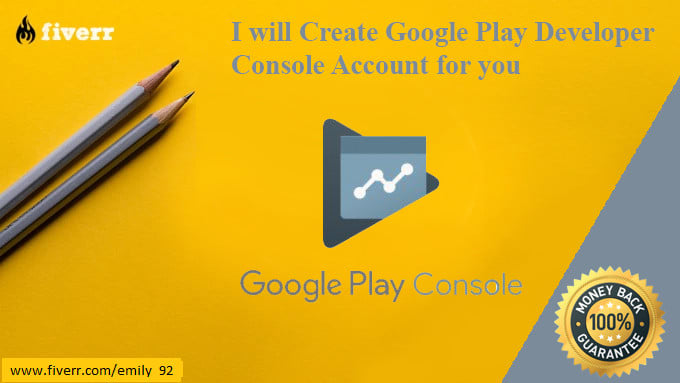 create a google console publish account for you