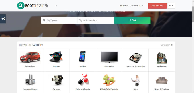 toibrarshah : I will develop free classified website for $600 on  www fiverr com