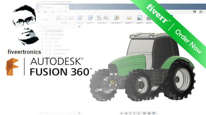 design 2d and 3d models using fusion360 solidworks blender