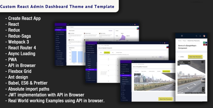 create react admin dashboard theme