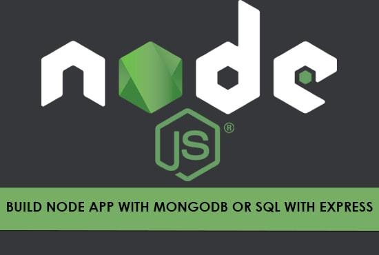 create node js express application and rest api
