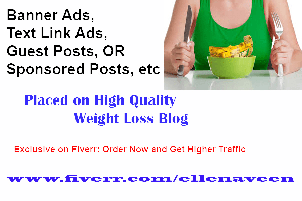 Add Your Banner Ad At Hq Weight Loss Site For 6 Months By Ellenaveen