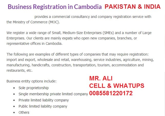 younestourism : I will business registration in cambodia pakistani and  indain for $995 on www fiverr com