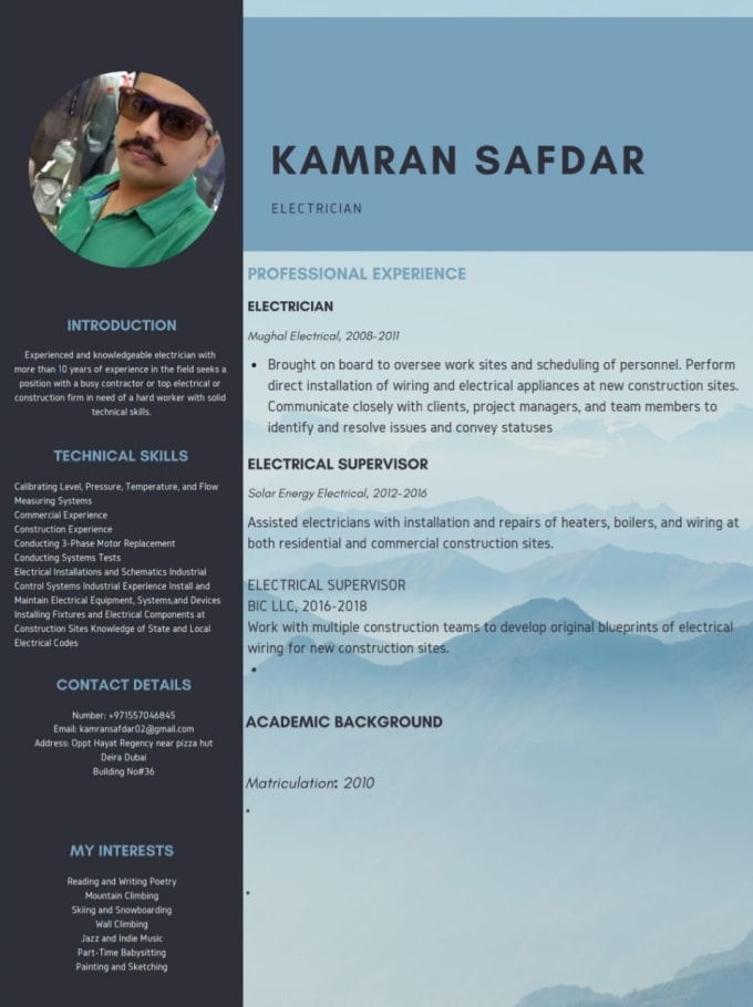 Write A Modern Professional Resume For You By Zaroon971757