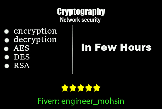 do encryption and decryption, cryptography in any language