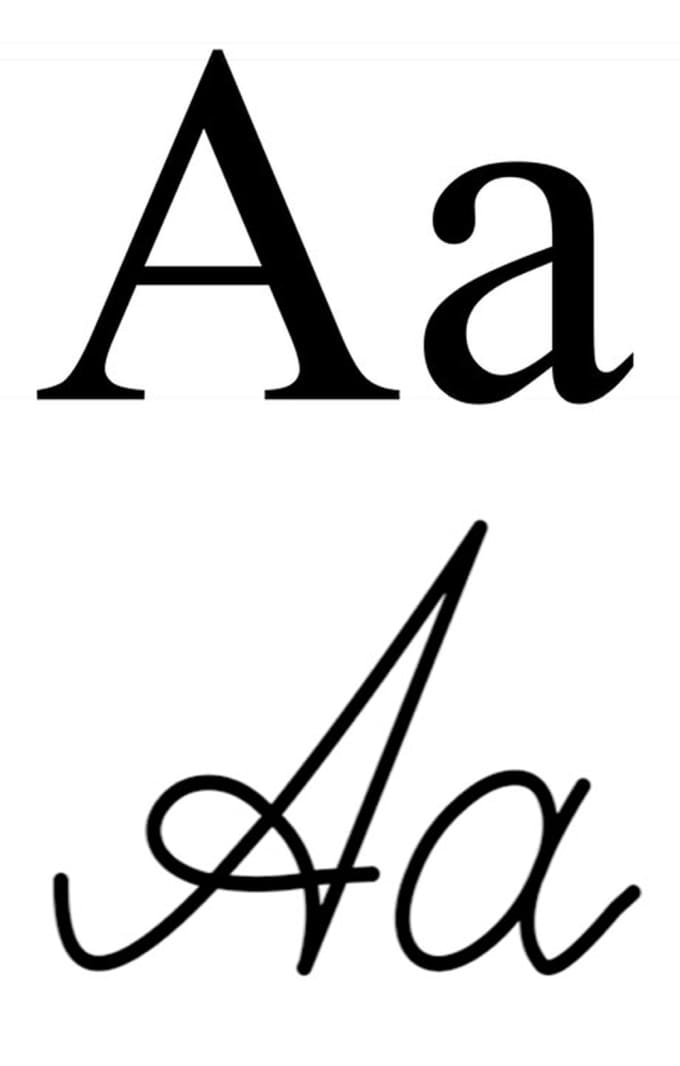 draw cursive letters for any cyrillic alphabet