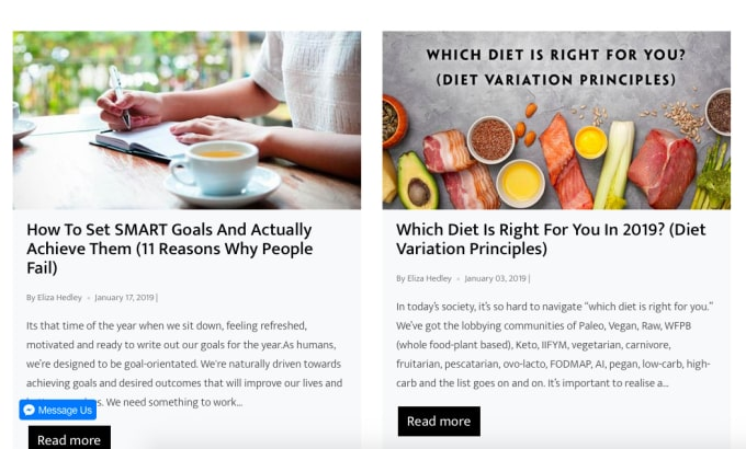 elizahedley : I will write and create awesome health and wellness content  for you for $75 on www fiverr com
