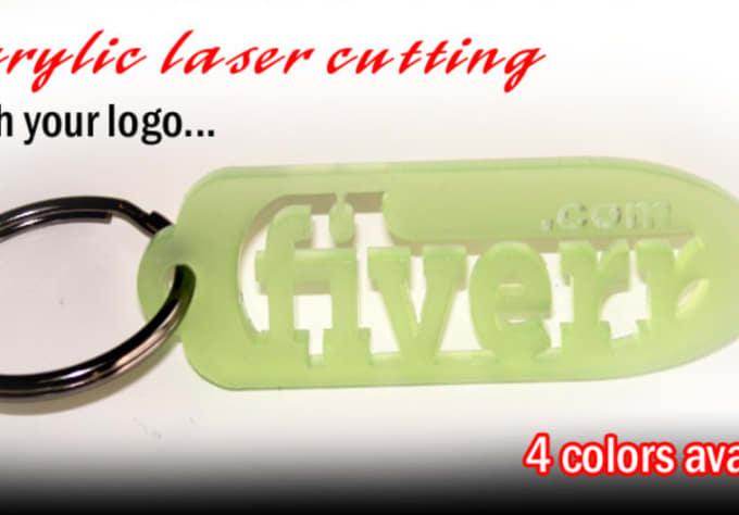 laser cut your custom acrylic keychain