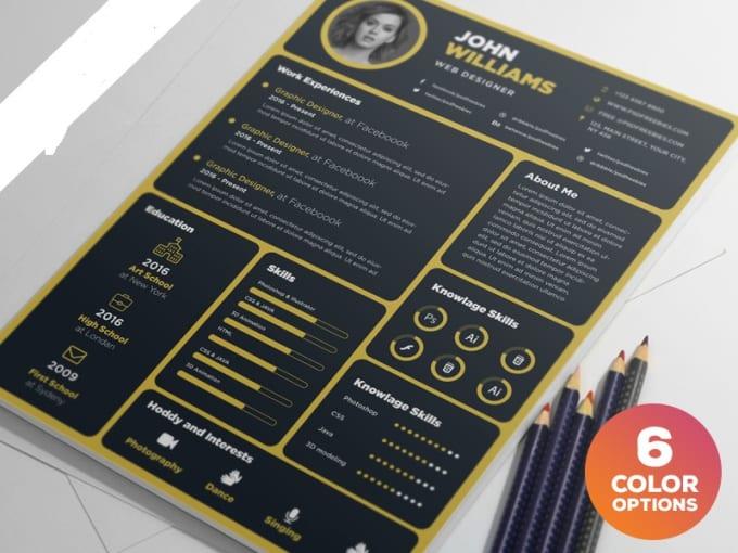 design creative cv resume best rates by saqibdahri