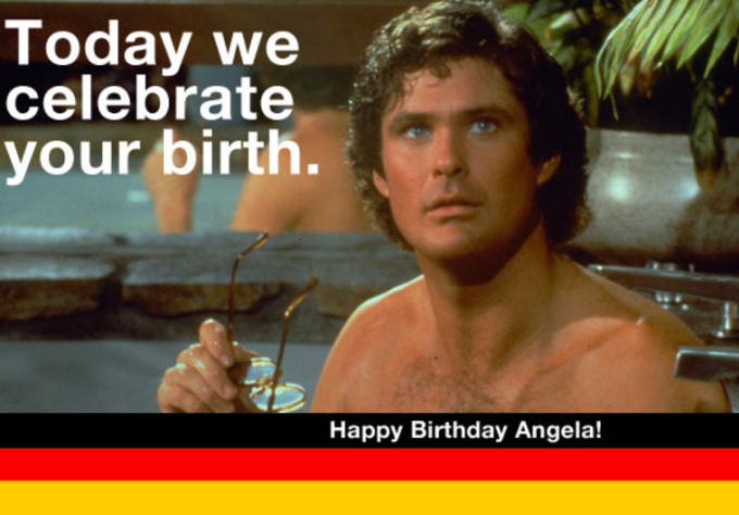 Create A Custom David Hasselhoff Birthday Card By Nhhnnh