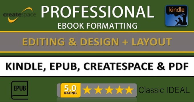 format your book ready for amazon kdp, nook and ingramspark