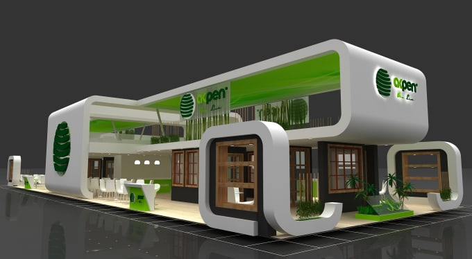 3d Exhibition Booth Design : Do d exhibition stalls booth stand kiosk designs by rdvaneren