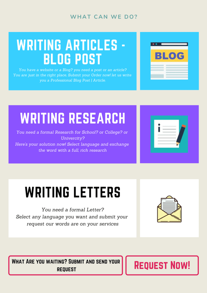 write you a professional article for your website and writing