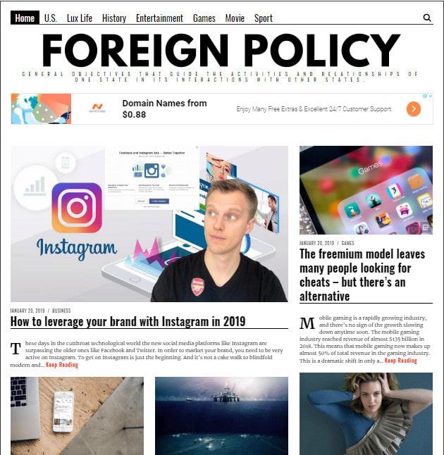 do premium guest post on news blog foreign policyi da 50