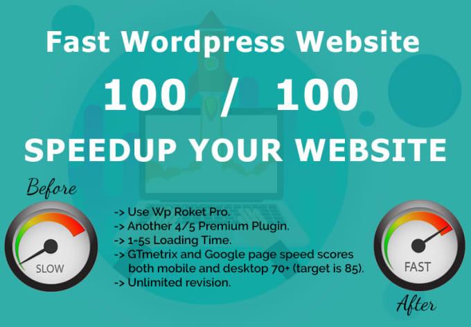 Optimize website speed, improve gtmetrix, google page speed