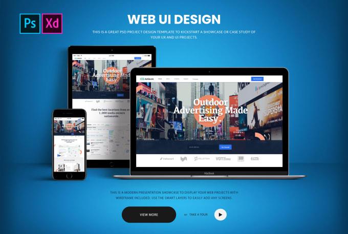 design responsive web UI and psd templates