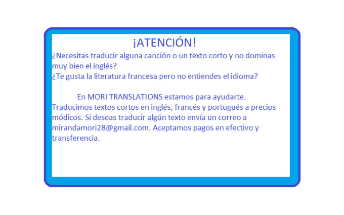 Traducir de ingles a español to write