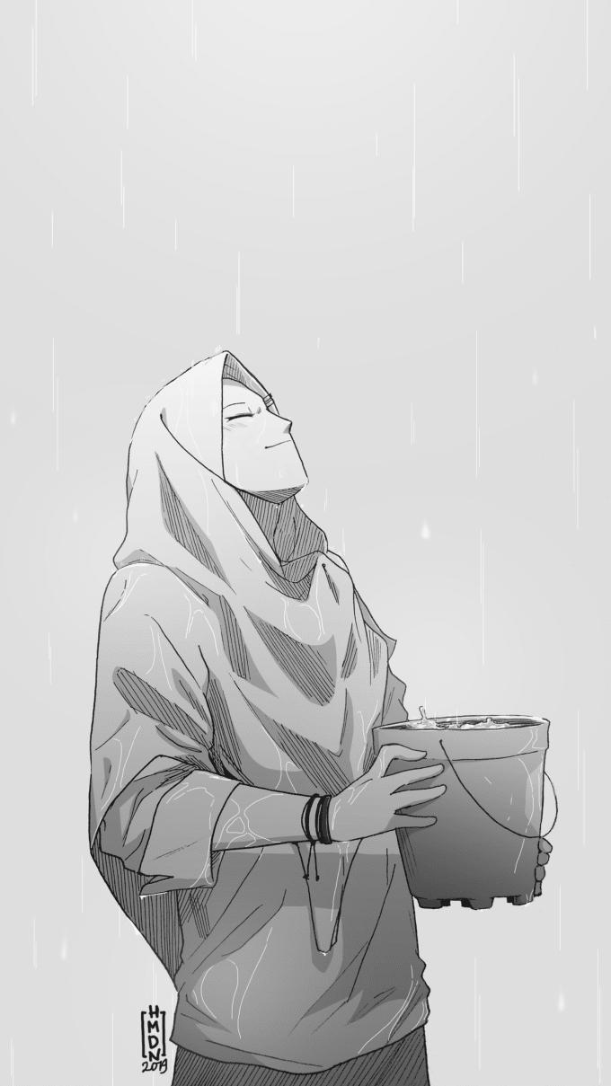 I will draw manga and anime hijab girl