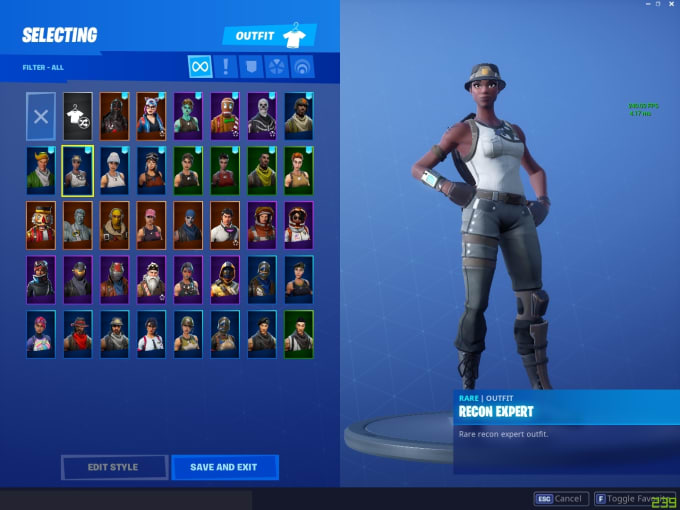 Coach You In Fortnite With Recon Expert Renegade Raider And More Rare Skins