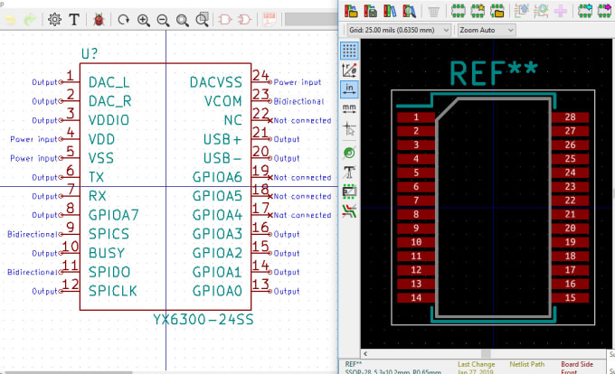 make a custom component library and footprint in kicad