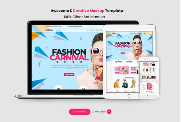 create awesome web ui and psd template