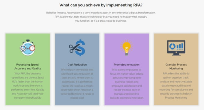 implement robotics process automation rpa using uipath, aa and blue prism