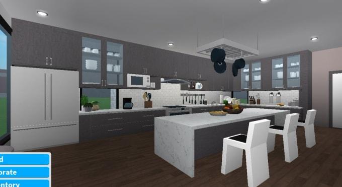 Modern Kitchen Design Bloxburg