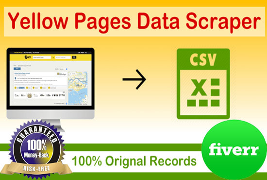 do scrap yellow pages to get email lists, number, address and more