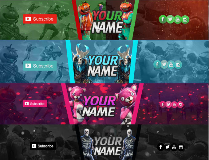 Customize The Best Fortnite Etc Banners On Fiverr For You