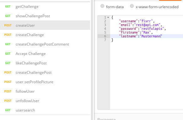 Form Data Rest Api