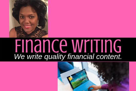 write finance articles, finance copy for your finance blog