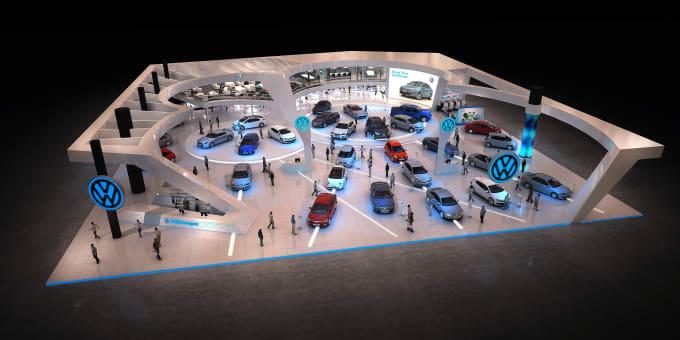 Expo Stands Kioska : Design your exhibition stand 3d kiosk by martinbattistel