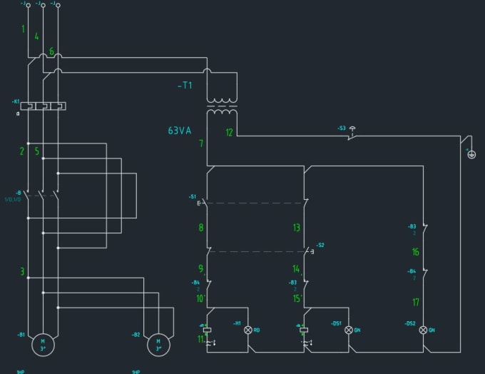 Electrical Circuit Drawing In Autocad