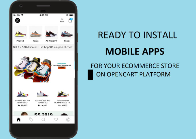 provide ready made opencart ecommerce mobile apps