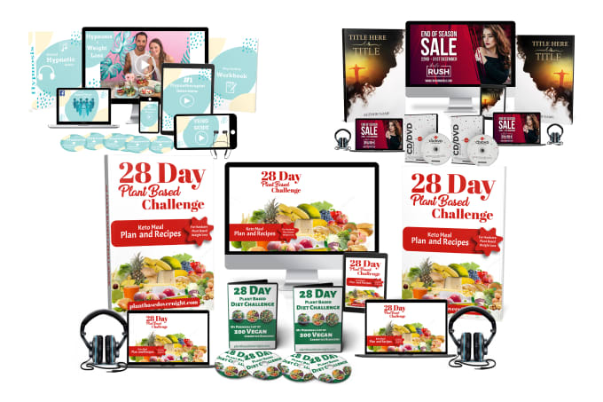 do online course ecover of 3d flat screens, book cover, box, ebook bundle
